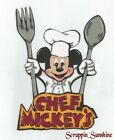 DISNEY CHEF MICKEY DINING Scrapbook Page Printed Paper Piecing SSFFDeb
