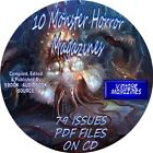 10 MONSTER HORROR VINTAGE MAGAZINES 79 ISSUES MULTIPLES OF EACH PDF CD