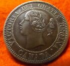1859 Scarce DP 4 Repunched High Grade CANADA LARGE CENT Victoria COIN CANADIAN