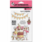 ART IMPRESSIONS Clear Stamp BIG BIRTHDAY WISHES