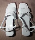 Beautiful Sesto Meucci White Woven Leather Sandals, Size -11 Narrow