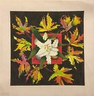 Lily with Autumn Leaves Handpainted Needlepoint Canvas