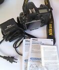 Nikon D D600 243 MP Digital SLR Camera Black body battery and charger
