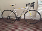 Carrera racing road bike white yellow small 46cm frame 5ft1 5ft6 recent service