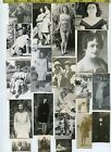 92 Vintage photo lot YOUNG WOMEN Fragments for Artists COLLAGE Art 1910 65