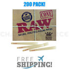 RAW Classic King Size Authentic Pre Rolled Cones with Filter 200 Pack