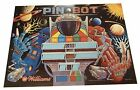Williams Pinbot Promotional Backglass Poster. Signed By Python Anghelo! Pin Bot