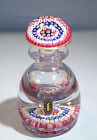 English Whitefriars Decanter Form Millefiori Glass Inkwell Paperweight C 1970