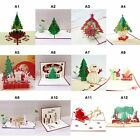 Pop Up 3D Christmas Cards Birthday Thanks Greeting Anniversary Cards Multi style