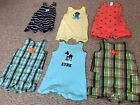 Lot Of Infant Boys Carters Rompers Size 12 Months