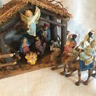 Wonderful Vintage Chalkware Nativity Set Italy w RARE Kings On Camels 5 Scale