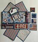 4th of JULY Premade Scrapbook Page Mat Set sewn
