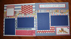 Cruise 12 x 12 premade scrapbook layout titled A DAY AT SEA 2 pg handmade