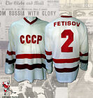 Vyacheslav Fetisov Team CCCP 1984 Olympic Game Worn Jersey Photo Matching