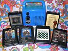 SEARS BLUE MONO PORTABLE 8 TRACK TAPE PLAYER W/6 TAPES SERVICED WATCH VIDEO