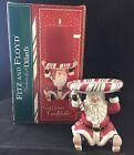 FITZ AND FLOYD CANDY CHRISTMAS PILLAR CANDLE HOLDER