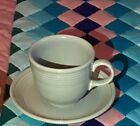 Fiesta pearl gray tea cup and saucer