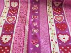 CLOTHWORKS-BE MINE-HEARTS & STRIPES BY SUE ZIPKIN- BY THE YARD