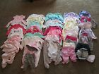Baby Girl Clothes lot 44 6 9 month Carters Baby Essentials etc