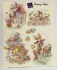 Giordano Bunny Tails Vintage Easter Stickers Eggs Rabbit Family One Sheet