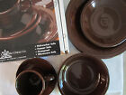 Fiestaware 5 Piece Place Setting - with Original Box - Chocolate - RETIRED COLOR