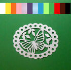8 Butterfly Scallop Oval Die Cuts Scrapbook Embellishment Card Making