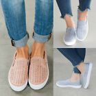 Fashion Womens Summer Hollow Out Breathable Slip On Loafer Sneakers Flats Shoes
