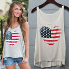American Heart Flag USA Flag Heart Patriotic 4th of July Womens Tank Top Summer