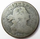 1798 S 186 Die Crack REV Large Cent Draped Bust Head Penny 1c US Coin Item12873