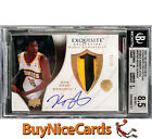 2007-08 Kevin Durant UD Exquisite Noble Nameplate RC Rookie Patch Auto 25 BGS 8