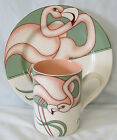Fitz and Floyd Flamingo Road FF80 Salad Plate and Mug
