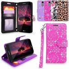 LG K4 2017 Phoenix 3 Aristo Fortune Leather Wallet Case Flip Stand Cover