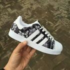 Women Fashion Striped Lace Up Sport Running Sneakers Trainers Shoes