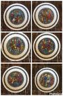 Set of 6 Noel Vitrail By Restieau Collectible Plates Nativity Scenes