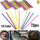 Wheel Spoke Wraps Skins Cover Pipe 4mm 72pcs Trim Coat Guard for Dirt Pit Bike