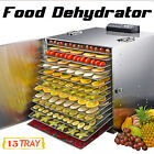 15 Tray Commercial Stainless Steel Food Fruit Meat Dryer Vegetable Dehydrator