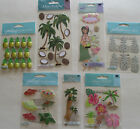 Jolees Boutique Scrapbooking Stickers Lot HAWAII Hula Palms Pineapple Aloha