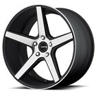 4ea New 20 KMC Wheels KM685 District Satin Black Machined Face Rims