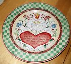 222 Fifth TWELVE DAYS OF CHRISTMAS Salad Plate two turtle doves birds   100