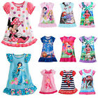 Girls Kids Disney Dresses Cartoon Pajamas Nightgown Sleepwear Nightwear 0 13 T