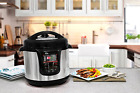 Non-Stick Electric Pressure Cooker Instant Rice Cooking Pot Stainless Steel 8 qt
