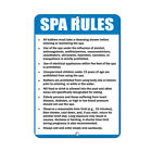 Spa Rules Activity Sign Pool Signs Spa Rule Signs Aluminum METAL Sign