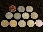 Lot of 12 Bronze One Penny Pence Great Britain UK Large Cent Coins 4 RULERS 1900