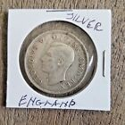 1943 English Half Crown silver coin, uncirculated.