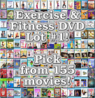 Exercise  Fitness DVD Lot 1 155 Movies to Pick From Buy Multiple And Save