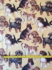 Dog Breeds Snuggle Flannel Photo Real Puppy Beagle Shephard Bull Dog Fabric BTY
