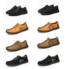 Mens British Style Handmade Classic Leather Oxford Flats Suede Casual Shoes USA