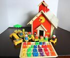 Fisher Price Vintage 1971 Little People Play Family School House Magnetic Letter