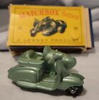 Matchbox Lesney Motor Scooter and Sidecar 36 Lambretta England Vintage 1960s