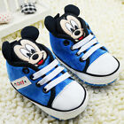 Infant Baby Boy Blue Mickey Mouse Crib Shoes Size 0 6 6 12 12 18 Months